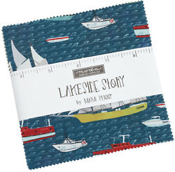 Lakeside Story Moda Charm Pack 42 100 Cotton 5 Precut Fabric Quilt Squares