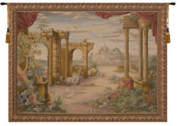 Vue Antique Without People French Tapestry - Wall Art Hanging New - 60x80 Inch