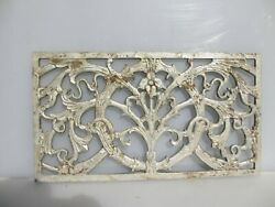 Vintage Aluminium Air Vent Grate Grille Ventilation Cover Old French 24x13