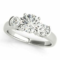1.00 Ct Vs1 Real Diamond Engagement Wedding 14kt Solid White Gold Rings Size 6 5