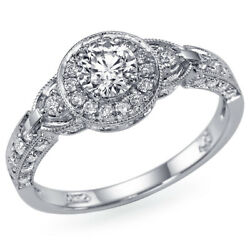 1.18 Ct Vintage Diamond Engagement Ring White Gold Si2 Msrp 7,650 45950995