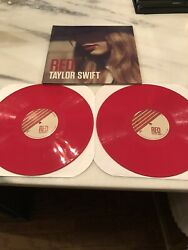 Taylor Swift Red Red Color Vinyl 2lp 2012 Acm Promo Rare—never Played Rare