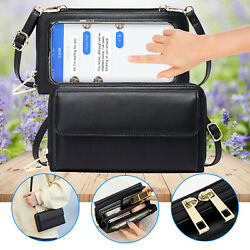 Touch Screen Bag Crossbody Cell Phone Shoulder Purse RFID Blocking Wallet Case $15.98