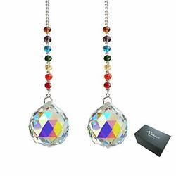 Hanging Window Crystals Prisms And Ab Color Crystal Prisms Ornament 40mm