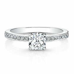 0.66 Ct Brilliant Cut Real Diamond Engagement Ring 14k White Gold Size 5 6 7 8.5