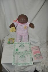 Vintage Rare African American Black Cabbage Patch Kids Doll 1983 Birth Certif.