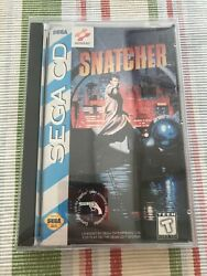 Snatcher For Sega Cd 100 Authentic + Complete In Original Case W Instructions