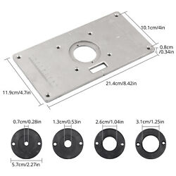 Aluminum Router Table Insert Plate 9.254.720.31 In With Screws For Woodworking