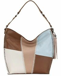 The Sak Womenandrsquos Silverlake Leather Tobacco Whipstitch Hobo Bags Beige/patch/...