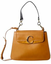C Medium Leather And Suede Shoulder Bag Womenand039s