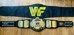 Autographed Figures Toy Co Wwf Winged Eagle Championship Replica Wrestling Belt