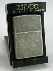 Vintage Zippo Lighter Antique Silver Plate Made In Oct 2001 Rare