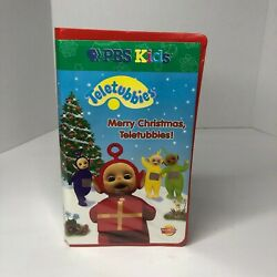 Merry Christmas Teletubbies Vhs 2 Tapes Video Set Holiday Pbs Kids Tested