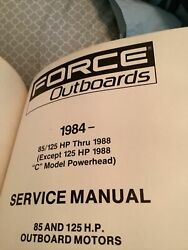 1984-1988 Force Outboards Service Manual 85 And 125 H.p. Outboard Motors Ob 4130