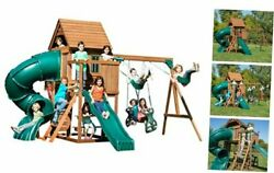 Tremont Tower Play Set With Two Slides, Two Swings, Glider, Picnic Table,