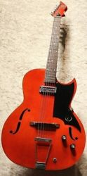 Kay K571 Speed Demon Red Made In Usa 1960s Vintage Hollow Body S1225