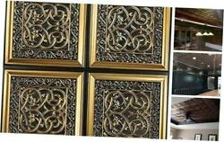 Lover's Knot-faux Tin Ceiling Tile - 25-pack Pack Of 25 Antique Gold