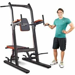 Harison Multifunction Power Tower Pull Up Dip Station With Bench Adjustable Heig