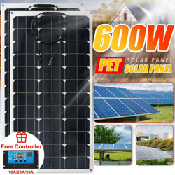 600w Solar Panel 18v Battery Charger Off Grid Power Supply System Kit For Home