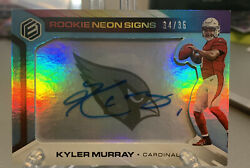 2019 Panini Elements Neon Signs Kyler Murray Rc Rookie Signed Auto /35