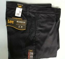 Lee Menand039s Navy Khakis Size 32 X 30 New Chinos Relaxed Fit Msrp 48.00
