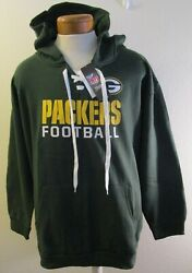 Nwt Majestic Green Bay Packers Womens Plus Size Lace-up Hoodie 3x Green Msrp55