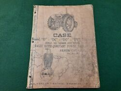 Case D Dc Do Dv Series Tractor Parts Catalog A519 Serial 5600000and Up.
