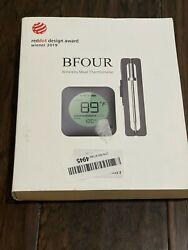 Bfour Digital Wireless Remote Meat Thermometer Range Smoker Grill Oven 2 Prongs