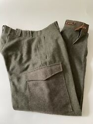 Vtg Wool Swedish Trousers Military Army Wwii 3 Crown 33 X 32 Hunting Wool Pants