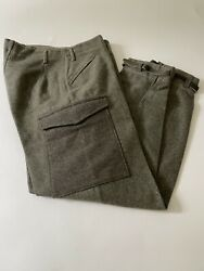 Vtg Windengrens Swedish Trousers Military Army Wwii Hunting Wool Pants 33x31