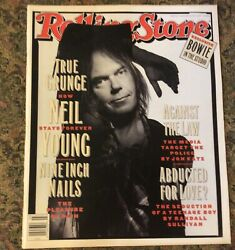 Rolling Stone Magazine Neil Young And Nine Inch Nails January 1993 Excellent Cond