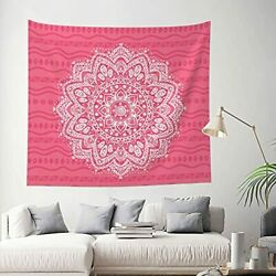 Pink Mandala Tapestry For Bedroom Bohemian Tapestry Wall Hanging Indian