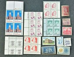 Vintage Postage Stamp Lot Of 34 Unused Still New Old Collectible Unique Stamps