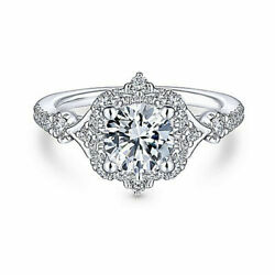 Round Cut 1.15 Ct Moissanite Engagement Womenand039s Ring 14k White Gold Size 5 6 7 8