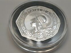 1915 Pan-pac Panama Pacific Exposition Octagonal 2 Oz Silver Bu In New Capsule