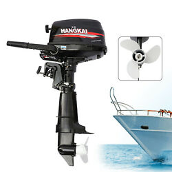 Hangkai 4-stroke 6.5hp Boat Engine Outboard Motor Water Cooling System New