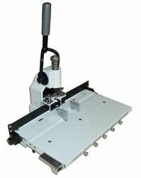 Paper Hole Drill Punch Machine 1/4 6mm Hole 300 Sheets With 2 Cut Die Moulds