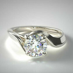Solid 14k White Gold 0.50 Ct Real Diamond Women Anniversary Rings Size 6 7 8.5 9