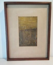 Chicago Artist Harry Bouras Abstract Mixed Media On Board 1960 Hairy Who