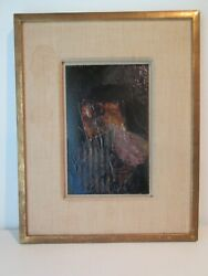 Chicago Artist Harry Bouras Abstract Mixed Media On Board 1964 Hairy Who