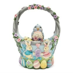 Heartwood Creek By Jim Shore Set/5 Easter Decorated Basket, New In Box, 6006990