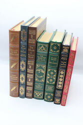 Easton Press And Franklin Library Leather Books Lot 7 Books 3 Signed