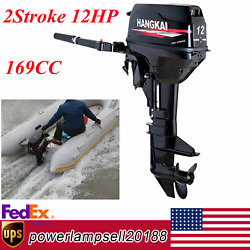 Hangkai 2stroke 12hp Outboard Motor Fishing Boat Engine Cdi+water Cooling System