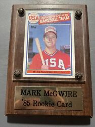 Mark Mcgwire 1985 Topps Usa Rookie Card Rc 401 Gem Mint Been In Plaque Since 85
