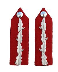 Lord Lt Gorgets Silver Oakleaf Embroidery Plain Button No. 1 Dress R2321