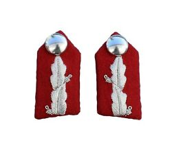 Lord Lt Gorgets Small With Clip On Silver Oakleaf Embroidery Plain Button R2323