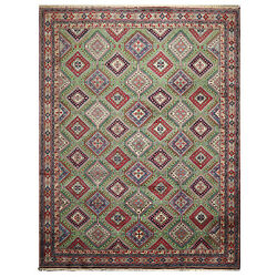 10and0399 X 12and03910 Hand Knotted Authentic Yalamah Wool Foundation Oriental Area Rug