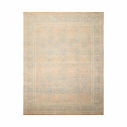 8'1'' X 10' Hand Knotted 100 Wool Pak-parsian 16/18 300 Kpsi Area Rug Blue Tan