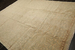 9' X 12' Hand Knotted 100 Wool Tibetan Antiqued Area Rug Beige 9x12