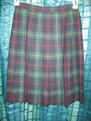 Jh Collectibles Classic Timeless Style Vintage Wool Plaid Skirt- Pleated Sz 6